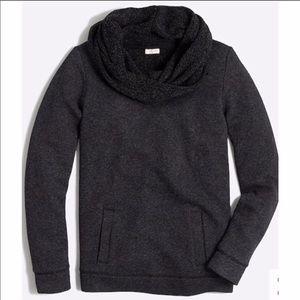 J. Crew Funnelneck Sweatshirt Gray Sweater Large